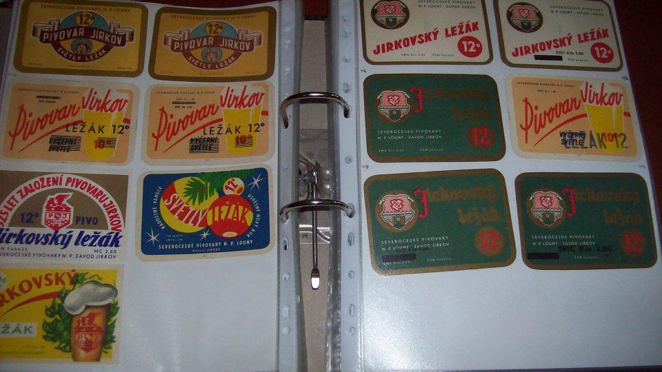 Sbírka Hynka Troutnara - etikety Jirkov