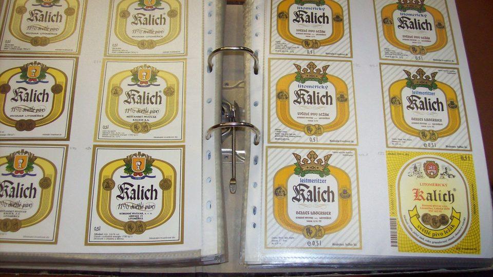 Sbírka Hynka Troutnara - etikety Kalich