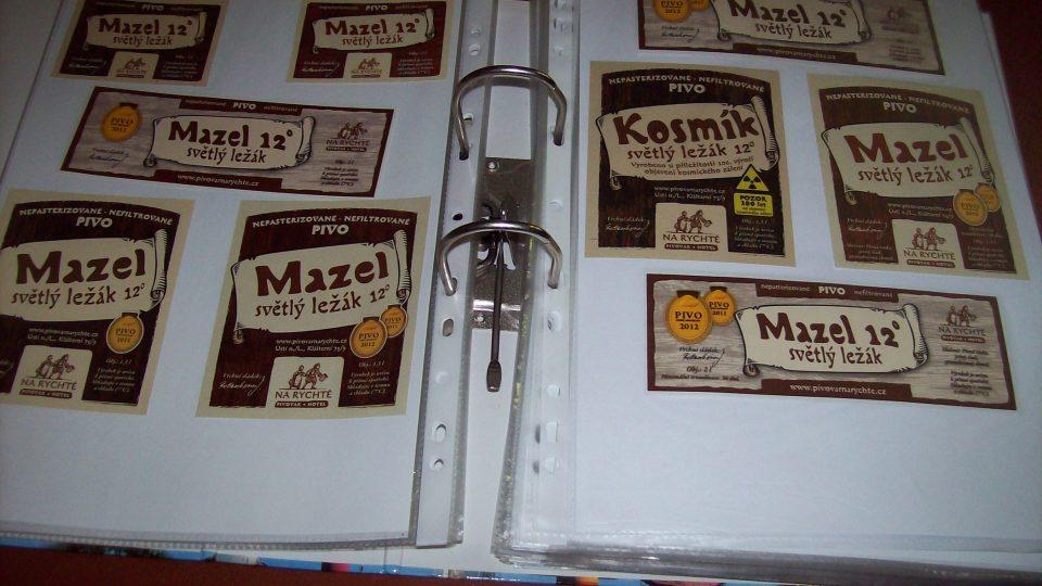 Sbírka Hynka Troutnara - etikety Mazel