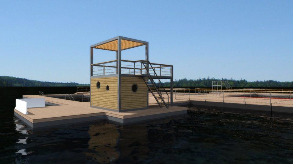 Kamencové jezero, vizualizace podoby nového mola