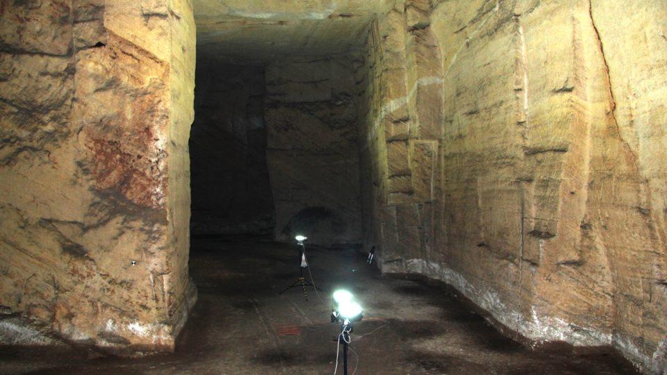 Etruský lom na kámen nedaleko italského města Tarquinia