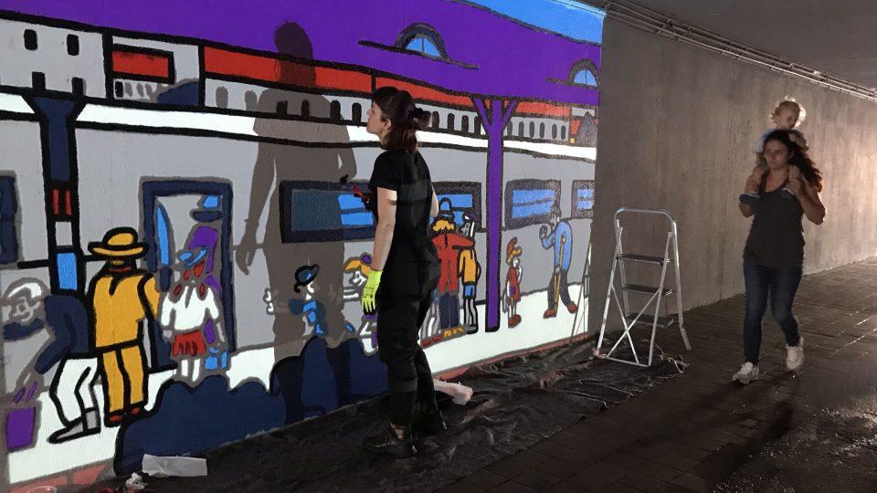 Podchod u Benešova mostu v Ústí nad Labem oživí velkoplošná malba