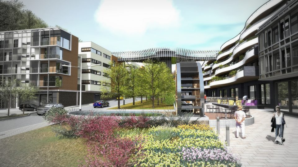 Vizualizace toho, jak by v budoucnu mohla vypadat Mlýnská ulice v Teplicích