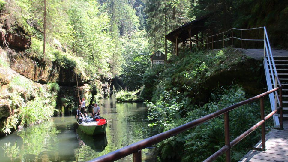 Hřensko: soutěsky na řece Kamenici