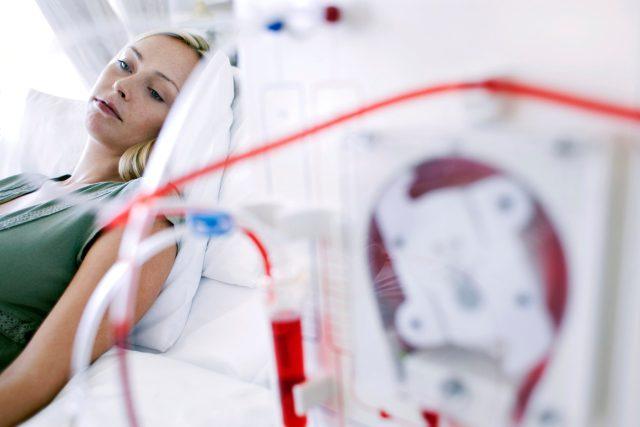 Pacientka na dialýze
