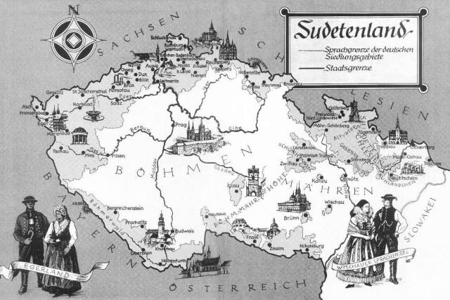 Mapa Sudet