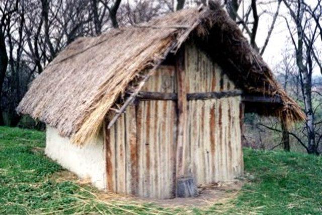 Rekonstrukce germánské chaty ze 6. století