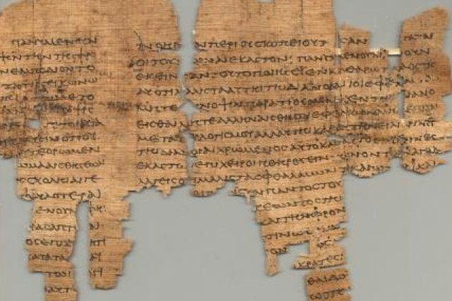Papyrus s Platonovým textem