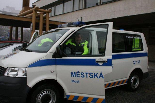 Pojízdná služebna mostecké Městské policie