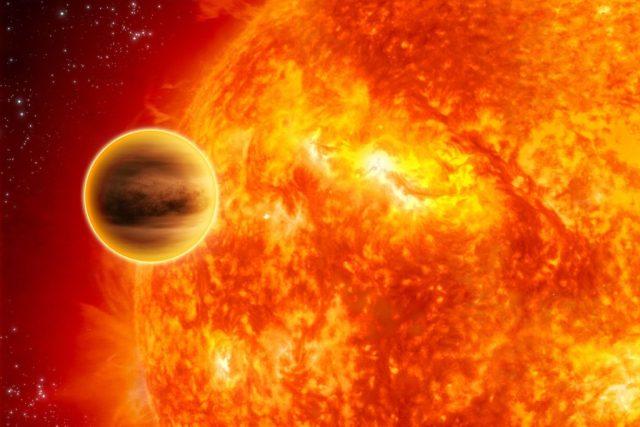Umělecká představa exoplanety | foto: Christophe Carreau/ESA