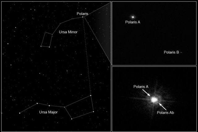 Polárka je ve skutečnosti skupinou tří gravitačně vázaných hvězd | foto:  NASA,  ESA