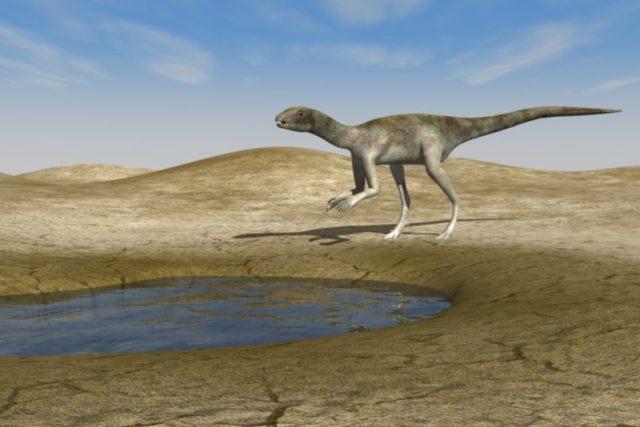 3D rekostrukce vzhledu dinosaura, který zanechal druhou českou stopu