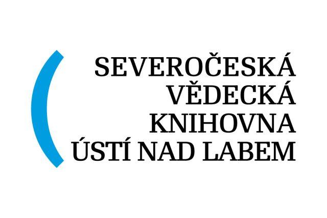 Severočeská vědecká knihovna Ústí nad Labem. Autoři loga: Kukačka, Toman