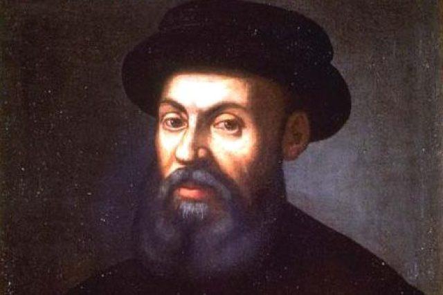 Mořeplavec Fernão de Magalhães. Výřez z portrétu neznámého autora ze 16. nebo 17. století. | foto: licence Public Domain,  volné dílo,  Neznámý autor,  Wikimedia Commons