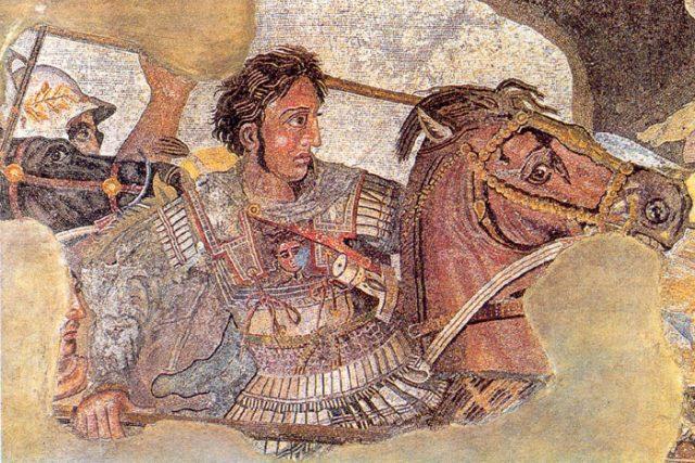 Alexandr Veliký bojuje s Dariem III.   foto: licence Public Domain,  volné dílo