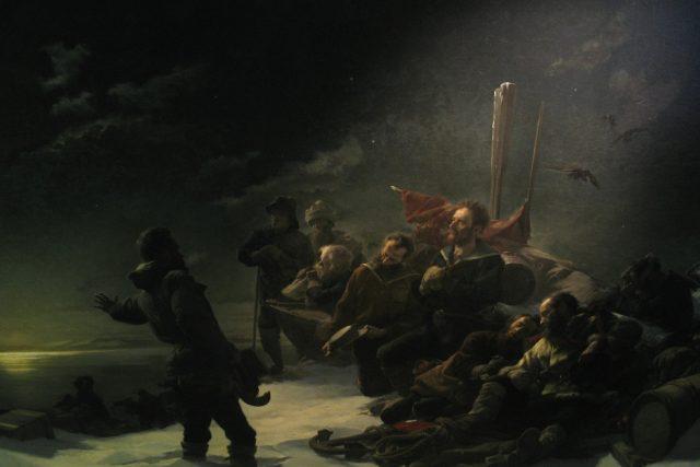 Julius Payer: Není návratu. Olej na plátně z roku 1892   foto: Wikipedia,  public domain - volné dílo