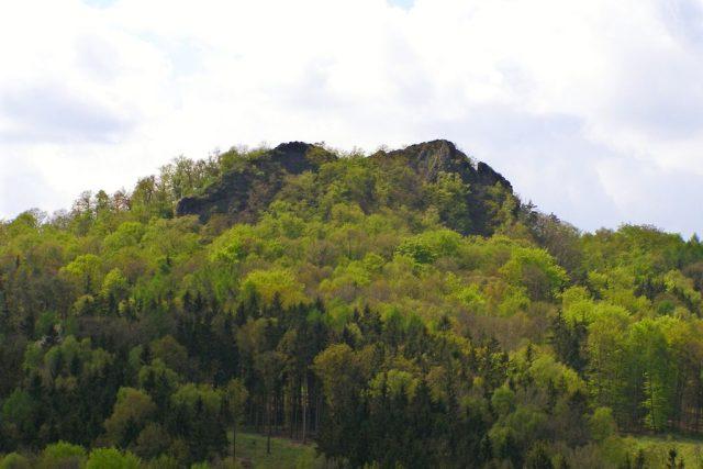 Vrch Trojhora nedaleko Třebušína v Českém středohoří (foto uživatele Romanzazvorka)