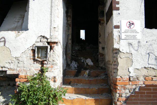 Vybydlený dům v ústeckých Předlicích
