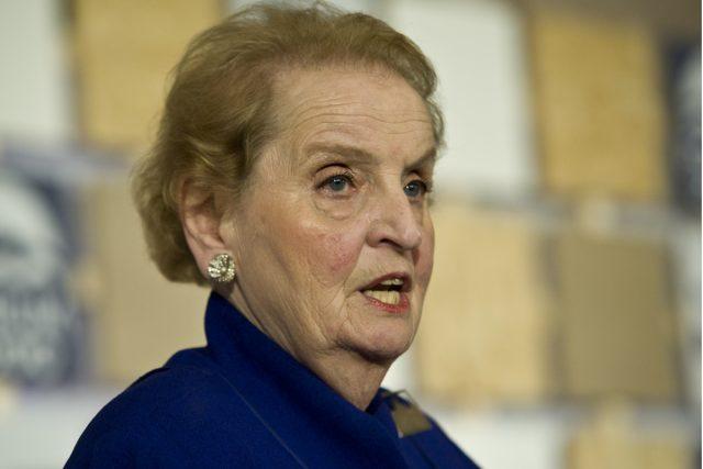 Bývalá americké ministryně zahraničních věcí Madeleine Albrightové v Praze