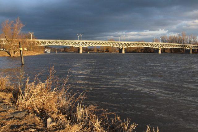 Starý Tyršův most přes Labe v Litoměřicích