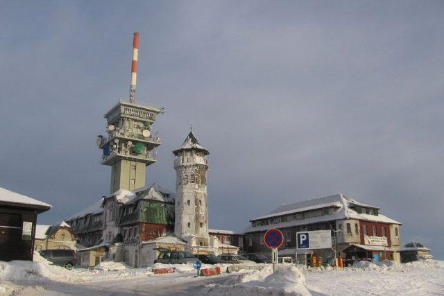 Vrchol Klínovce v zimě (foto uživatele Schlesinger)
