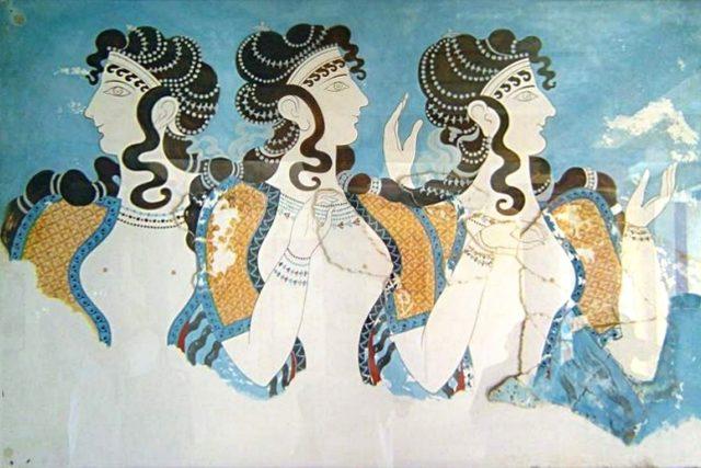 Freska v Knóssu, správním a politickém centru minojské civilizace