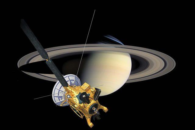Sonda Cassini u Saturnu | foto:  NASA