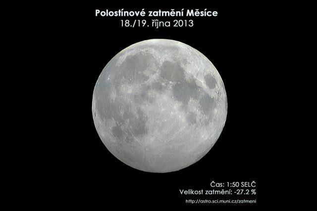 Zatmění Měsíce 19. října 2013