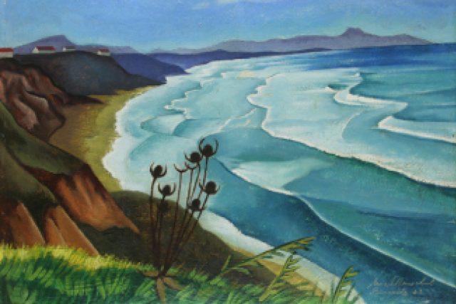 Ernest Neuschul: Mořské pobřeží v Biarritz