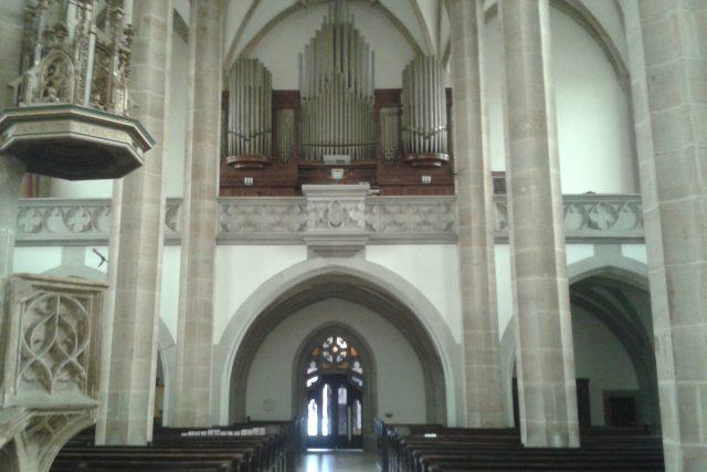 Varhany v kostele Nanebevzetí Panny Marie