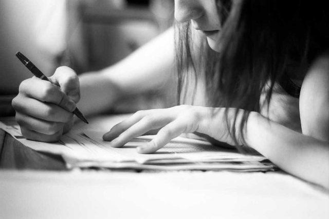 Studium, psaní, soustředění