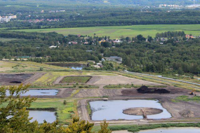 Odkaliště v Chodově na Sokolovsku