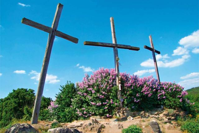 Kalvárie - tři kříže před rokem 2009