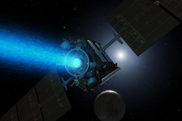 Sonda Dawn přilétá k trpasličí planetě Ceres (v představě výtvarníka)