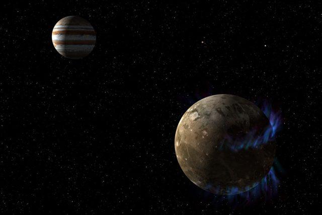 Vědcům napomohla dálková měření a modelování fyzikálních souvislostí mezi magnetickými poli Ganymeda a Jupitera a vývojem polárních září (auror)