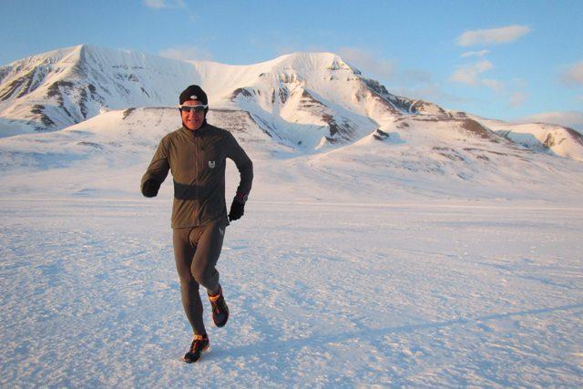 Petr Vabroušek při tréninku na North Pole Marathon