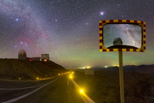 Mléčná dráha a observatoř La Silla v Chile