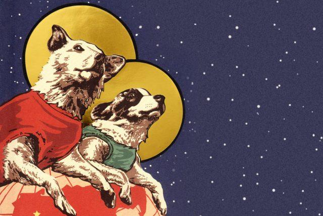 Obálka knihy Soviet Space Dogs spisovatelky Olesjy Turkiny
