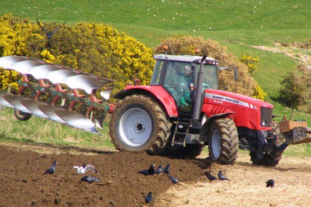 traktor - pole - na poli - zemědělec - zemědělství
