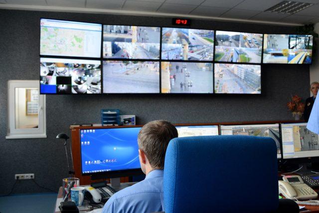 Dispečink kamerového systému městské policie v Pardubicích