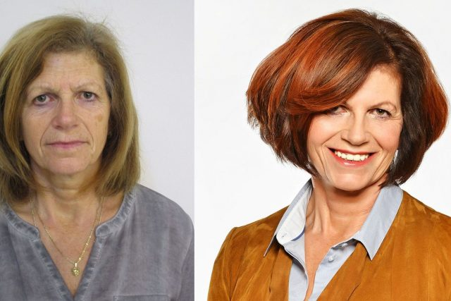 Proměna blond šedesátnice na brunetku | foto: Jana Burdová