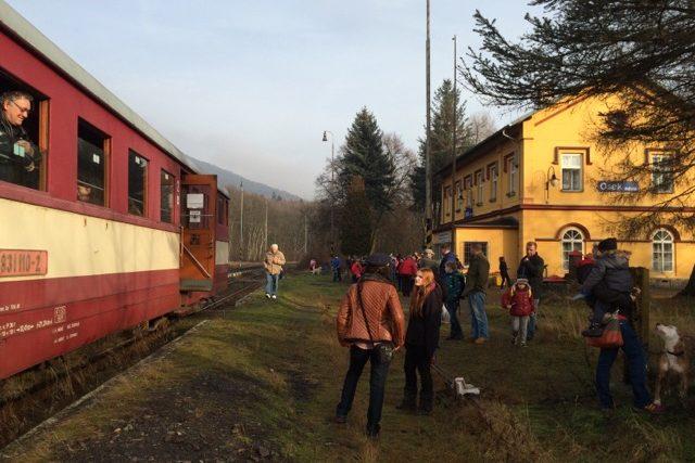 Historický vlak z Litvínova na Moldavu