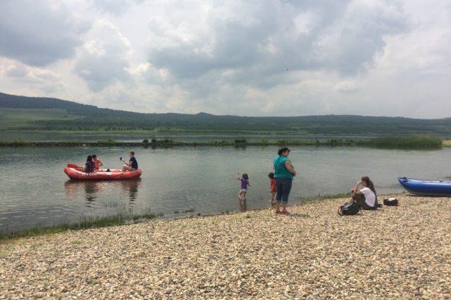 Jezero Milada na Ústecku, kde bývaly hnědouhelné doly