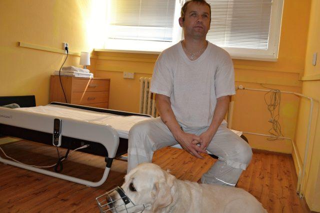 Petr Vaculík, nevidomý masér