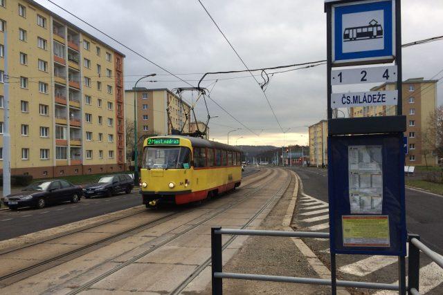 Tramvaj Dopravního podniku měst Mostu a Litvínova | foto: Jan  Beneš