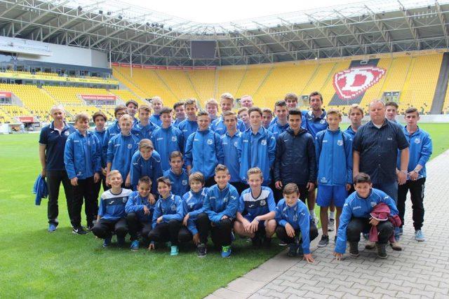 Mladí ústeční fotbalisté v Drážďanech