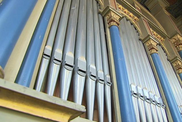 Varhany v pražské Jubilejní synagoze v Jeruzalémské ulici