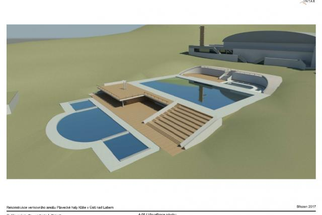 Studie rekonstrukce venkovních bazénů na Klíši