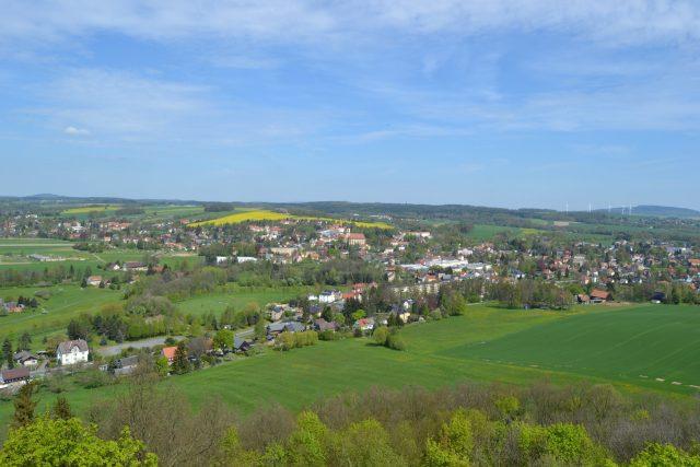Varnsdorf ze tří stran obklopuje Německo
