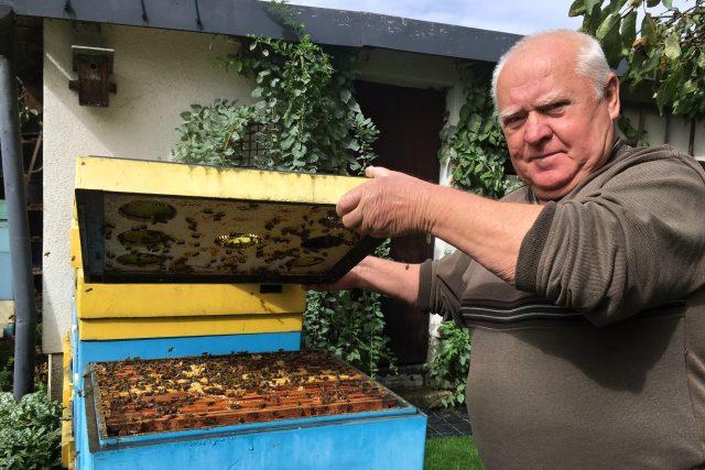 Včelař Vilém Kohut z Jeseníku